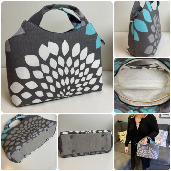 The Hope Handbag from Sewing Patterns by Mrs H - made by @HandmadeByLauraSimons