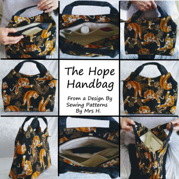 The Hope Handbag from Sewing Patterns by Mrs H - made by @ErnehaleDesigns