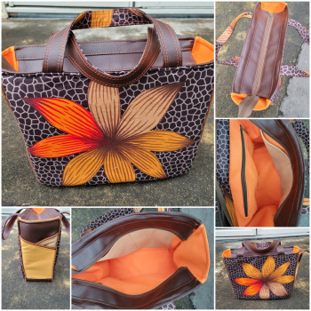 The Piped Pocket Tote made by Ingrid Adams