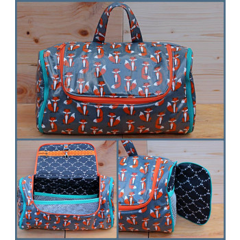 The Toiletry Tote by Sewing Patterns by Mrs H, made by Jana of Bubo Boutique