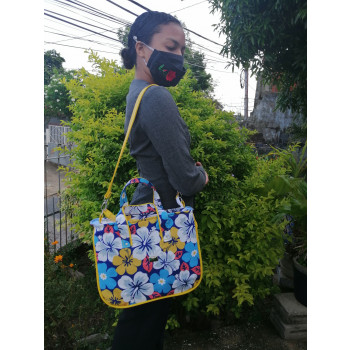 The Piped Pocket Tote made by Marcia Pantin