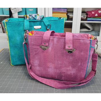 The Piped Pocket Tote - front view