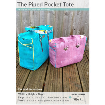 The Piped Pocket Tote by Sewing Patterns by Mrs H
