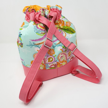 The Duffel Backpack from Sewing Patterns by Mrs H - cinched