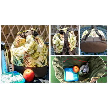 The Duffel Backpack from Sewing Patterns by Mrs H, made by Elaine Baker