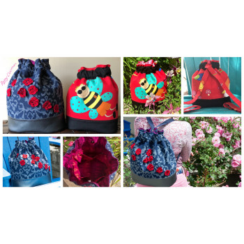 The Duffel Backpack from Sewing Patterns by Mrs H, made by Patty Cucman