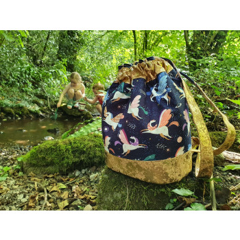 The Duffel Backpack from Sewing Patterns by Mrs H, made by Crafted by Leanne