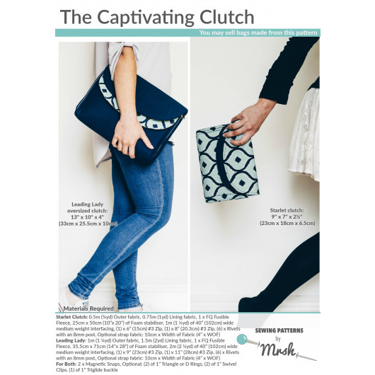 The Captivating Clutch sewing pattern by Mrs H
