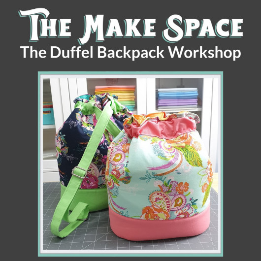 The Duffel Backpack workshop with Mrs H, at The Make Space in Cornwall