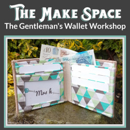 The Gentleman's Wallet Workshop with Mrs H, at The Make Space