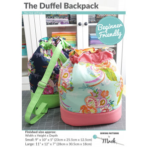 The Duffel Backpack from Sewing Patterns by Mrs H - Front Cover