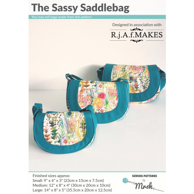The Sassy Saddlebag by Sewing Patterns by Mrs H