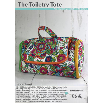 The Toiletry Tote sewing pattern by Mrs H