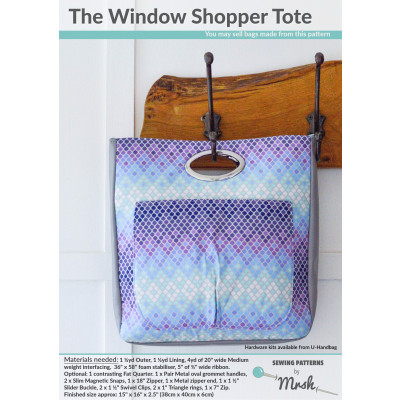 The Window Shopper Tote sewing pattern by Mrs H