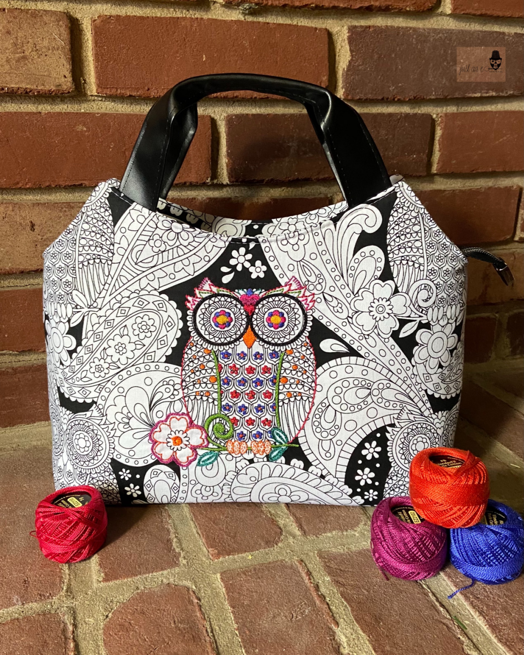 The Hope Handbag from Sewing Patterns by Mrs H, made by Abbe of Just an E