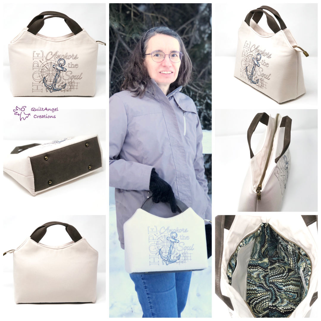 The Hope Handbag from Sewing Patterns by Mrs H, made by Elizabeth Widmayer of Quilt Angel Creations