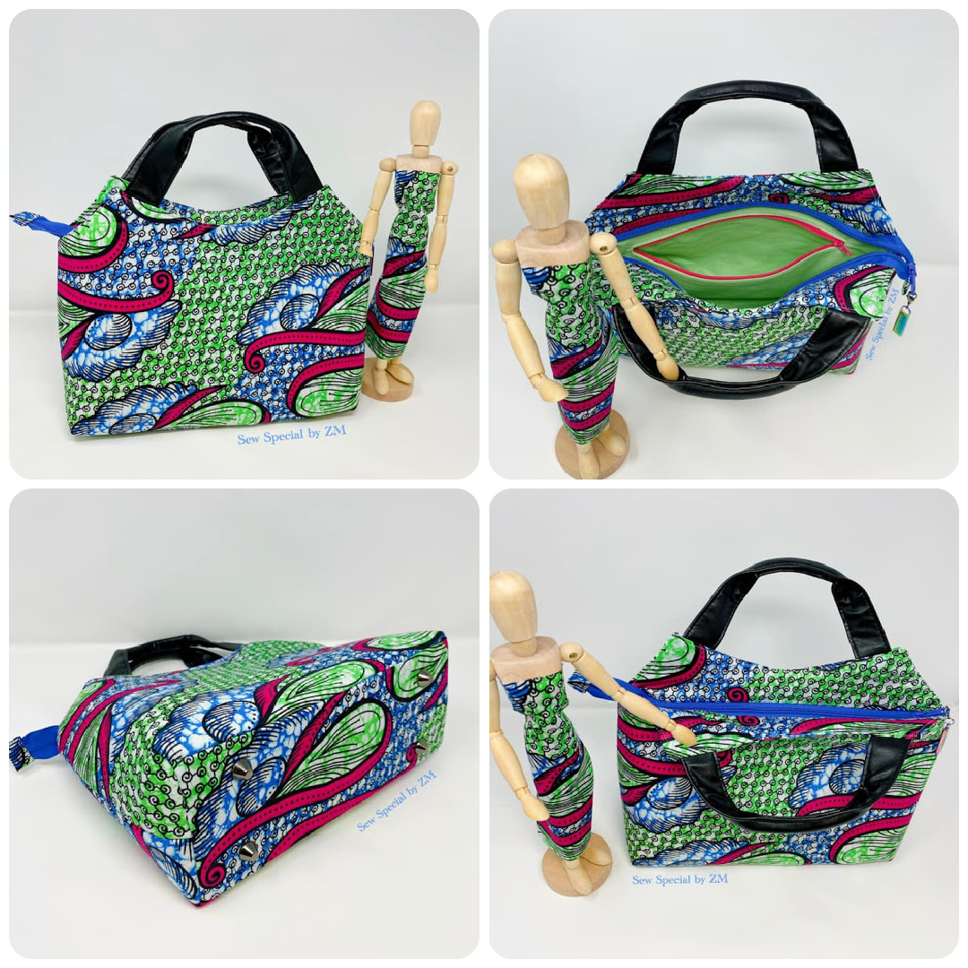 The Hope Handbag from Sewing Patterns by Mrs H, made by Zeiba Monod of Sew Special by ZM