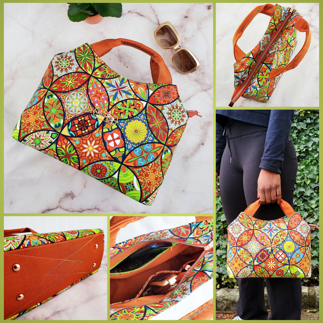 The Hope Handbag from Sewing Patterns by Mrs H, made by Katherine Maldonado of PURSErverance