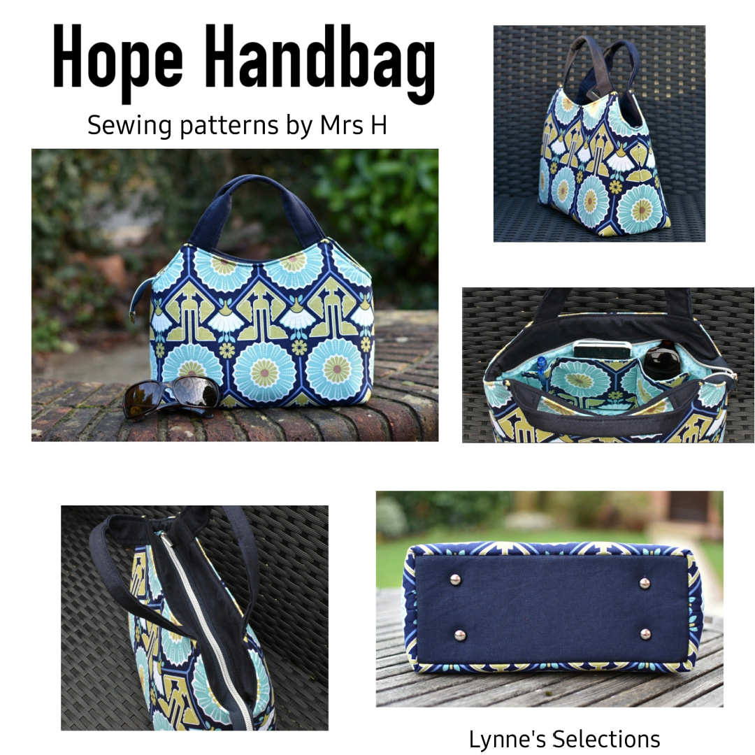 The Hope Handbag from Sewing Patterns by Mrs H, made by Lynne Baldwin of Lynne's Selections