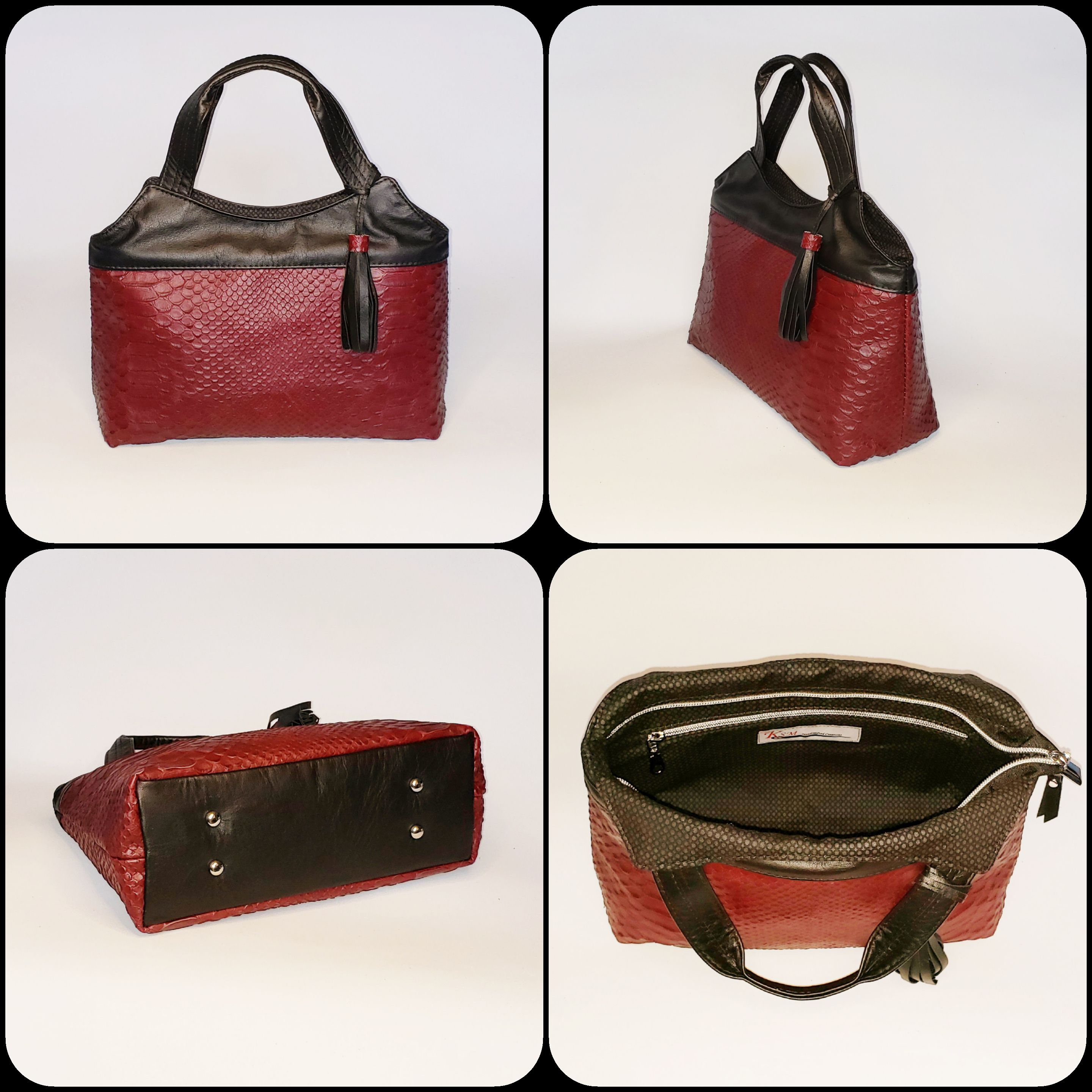The Hope Handbag from Sewing Patterns by Mrs H, made by Susan McQuone of KSM Handcrafted