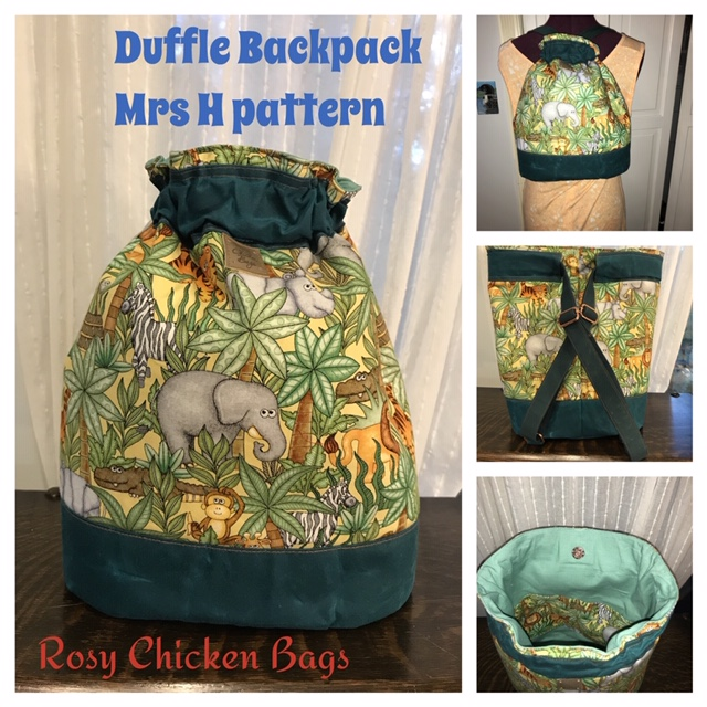 The Duffel Backpack made by Nancy of Rosy Chicken Quilts