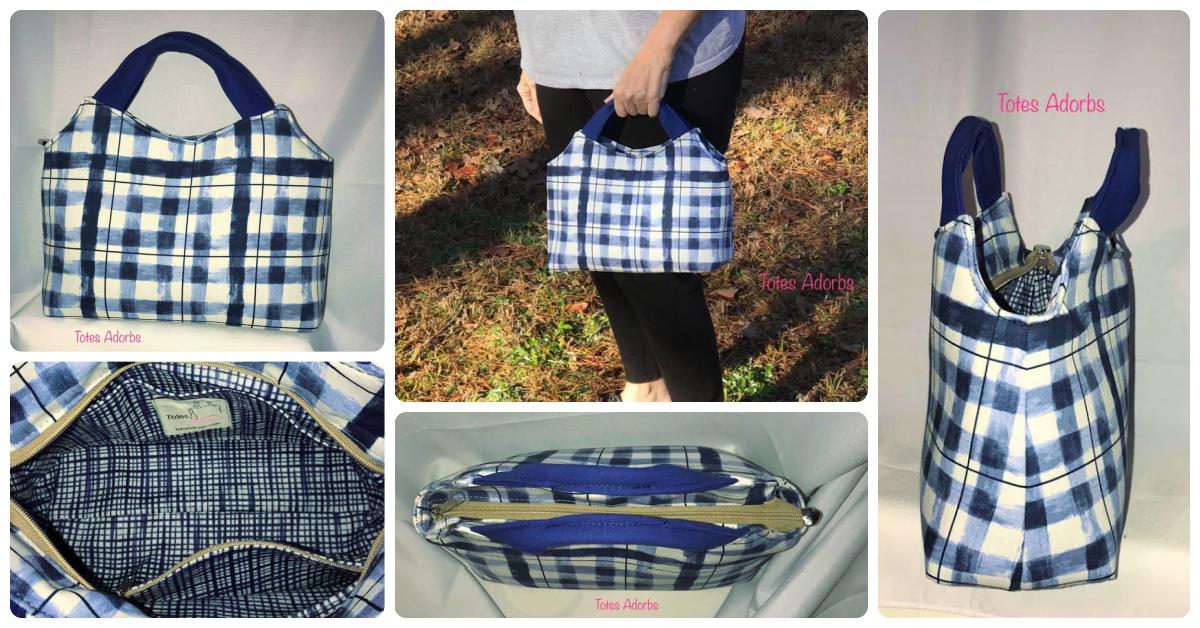 The Hope Handbag made by Laura Wadman of Totes Adorbs Handbags