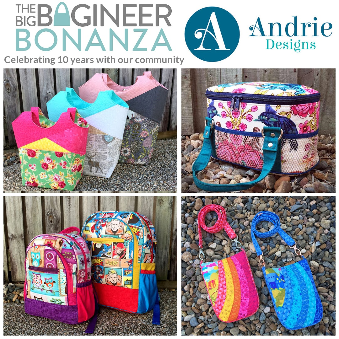 Andrie Designs, sponsor of The Big Bagineer Bonanza