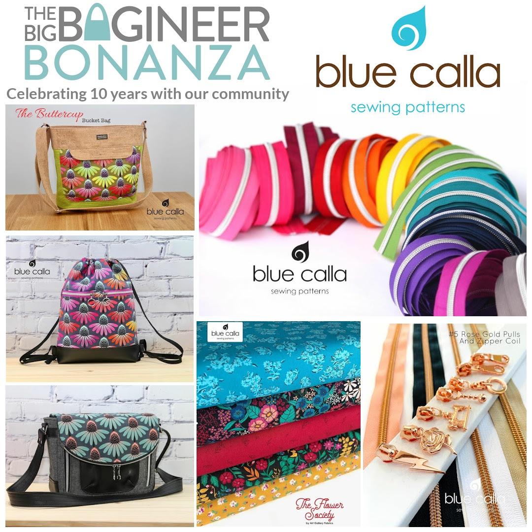 Blue Calla Patterns & Supplies - sponsoring the Big Bagineer Bonanza 2021