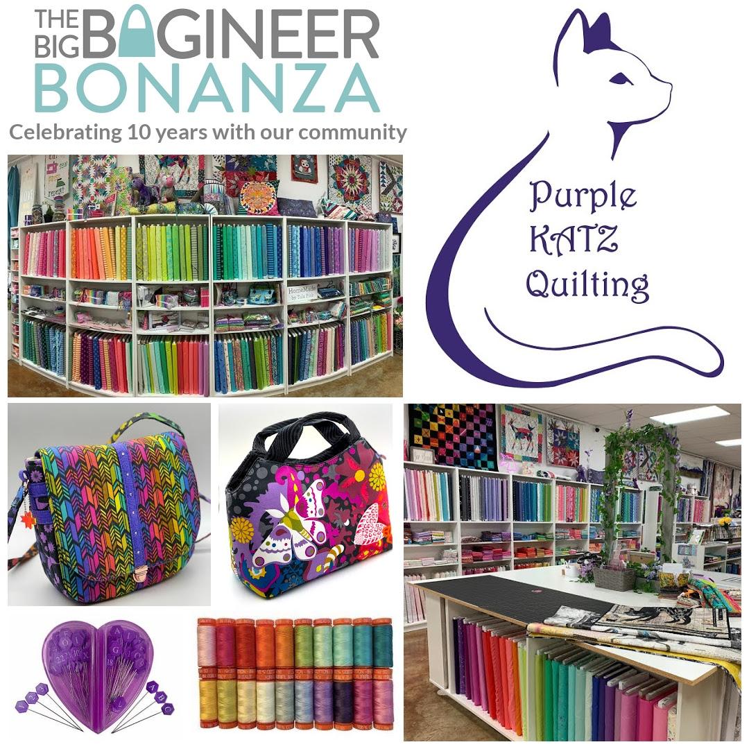 Purple Katz Quilting - sponsors of the Big Bagineer Bonanza