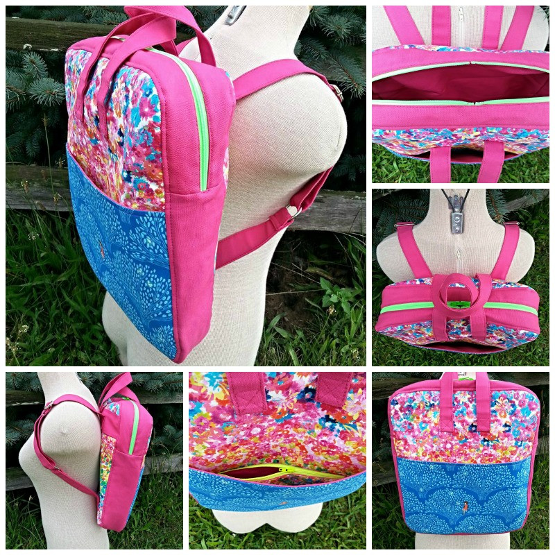 The Bookbag Backpack, made by Leslie from Love Rubie