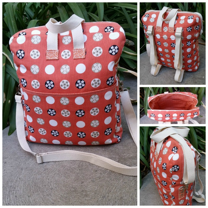 The Bookbag Backpack made by Susan of KSM Handcrafted Creations