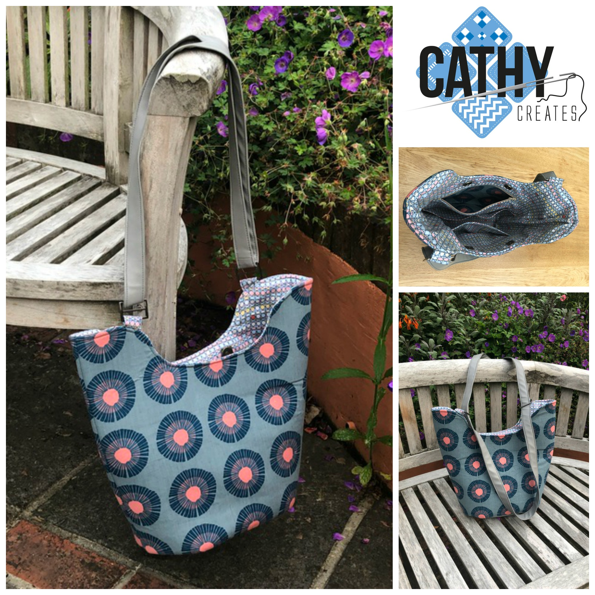 The Bucket Tote, made by Cathy Creates