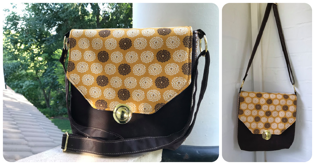 The Button Lock Bag from Sewing Patterns by Mrs H, made by Tess Orr
