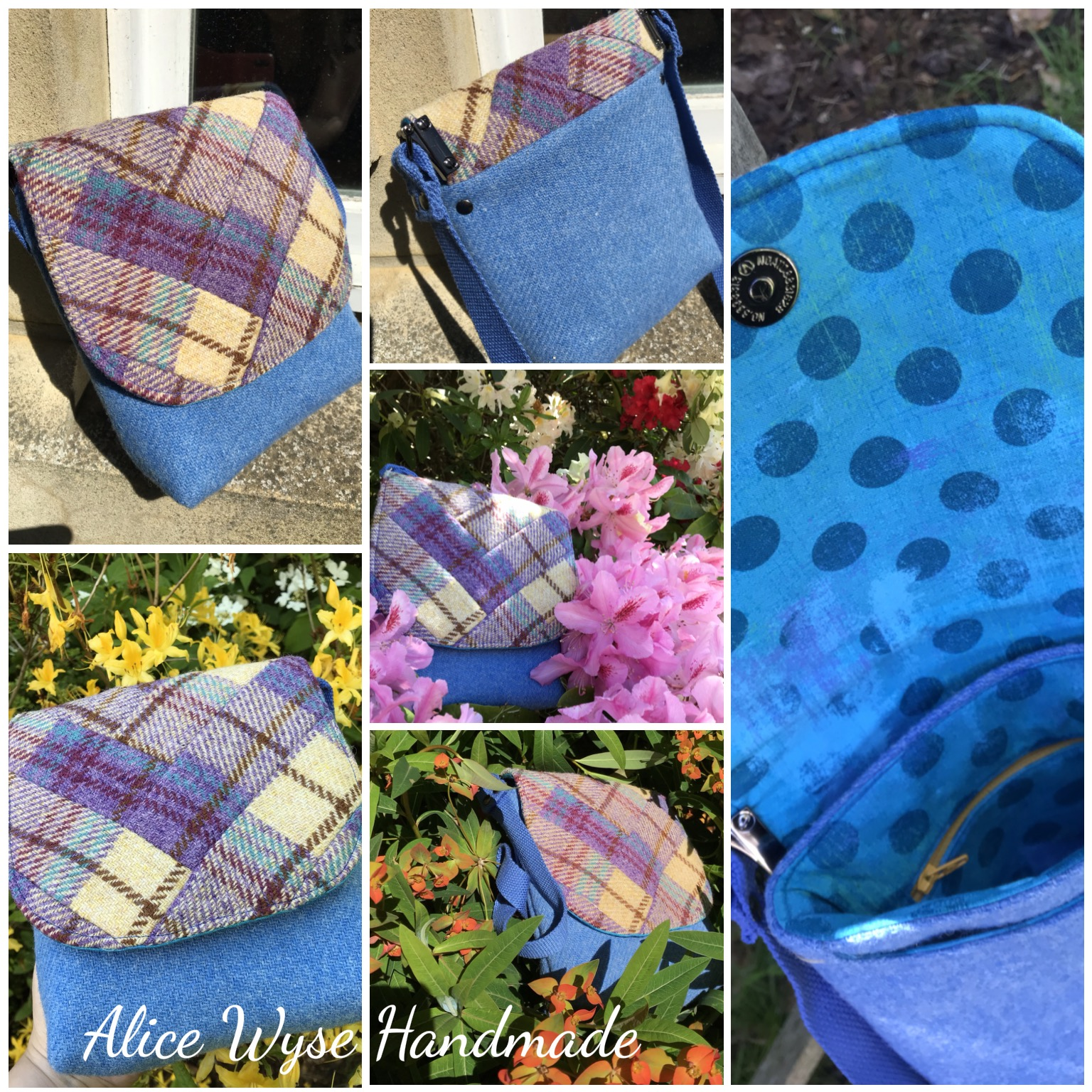 The Crossbody Bag by Sewing Patterns by Mrs H, made by Alice Wyse Handmade