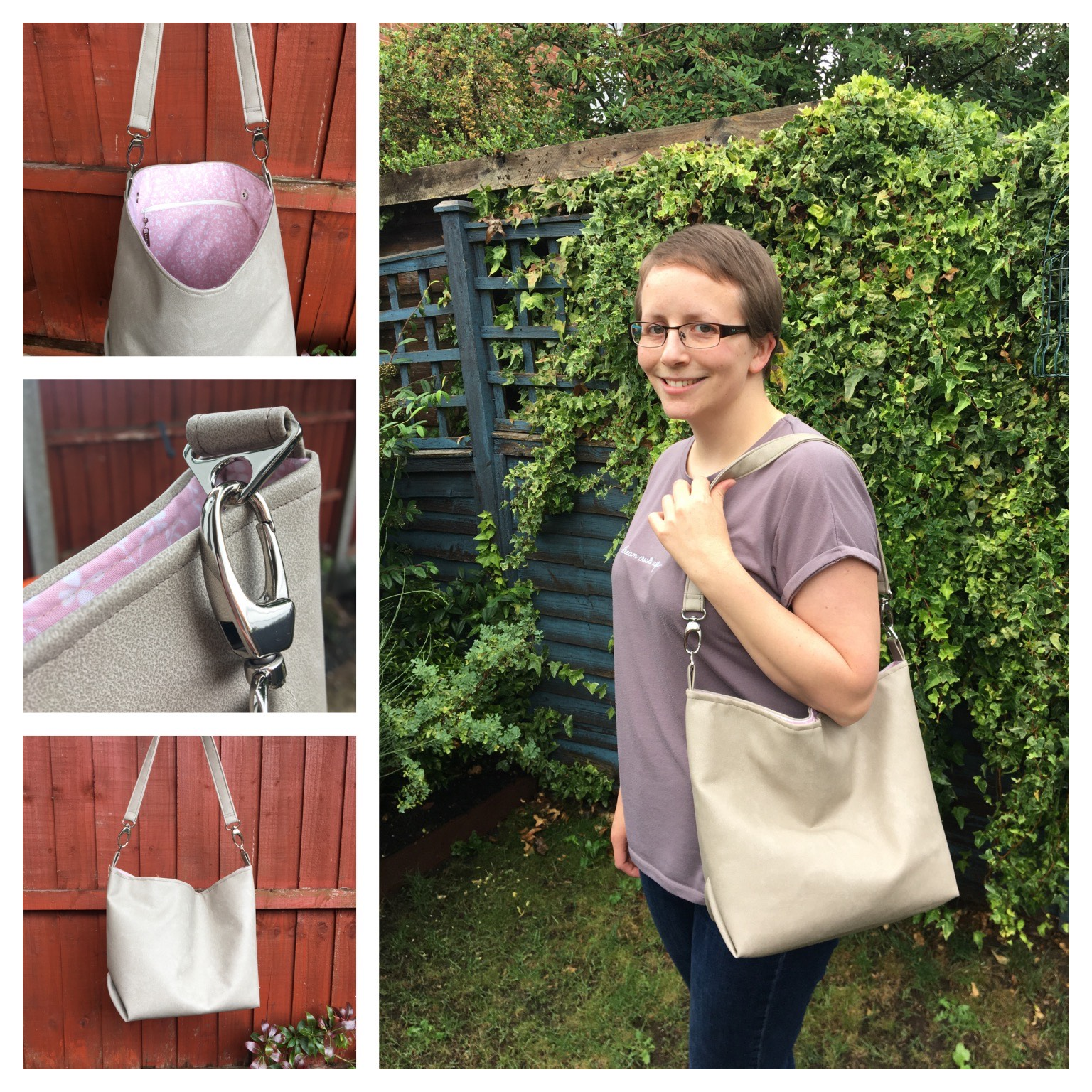 The Cwtsh Bag from Sewing Patterns by Mrs H, made by Evey Hay