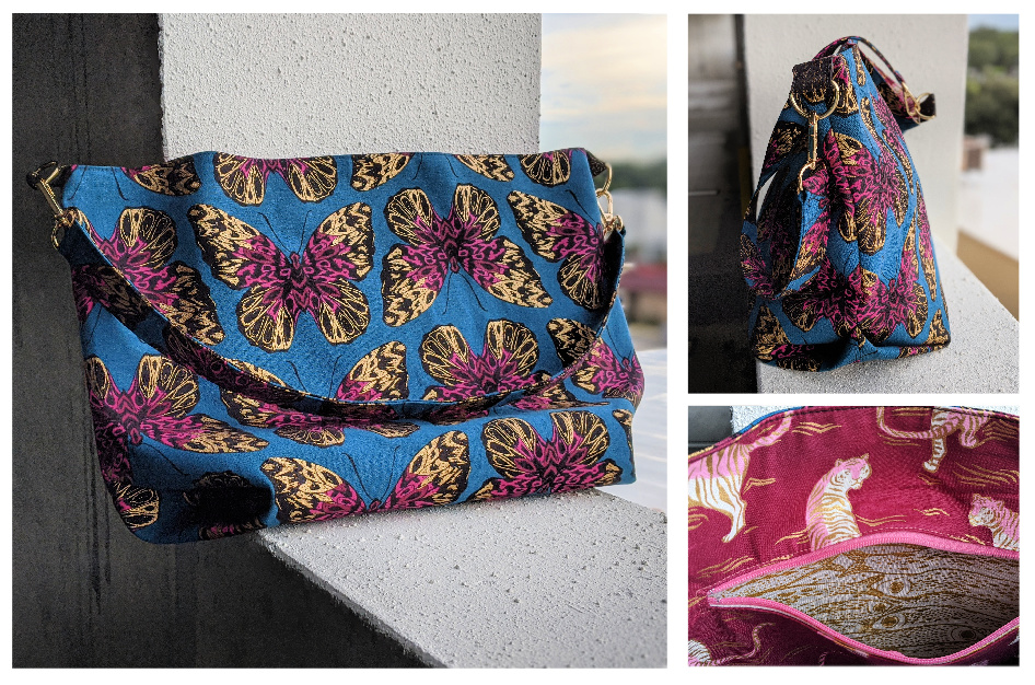 The Cwtsh Bag from Sewing Patterns by Mrs H, made by Isabelle Kern in Butterfly fabric from Ruby Star Society