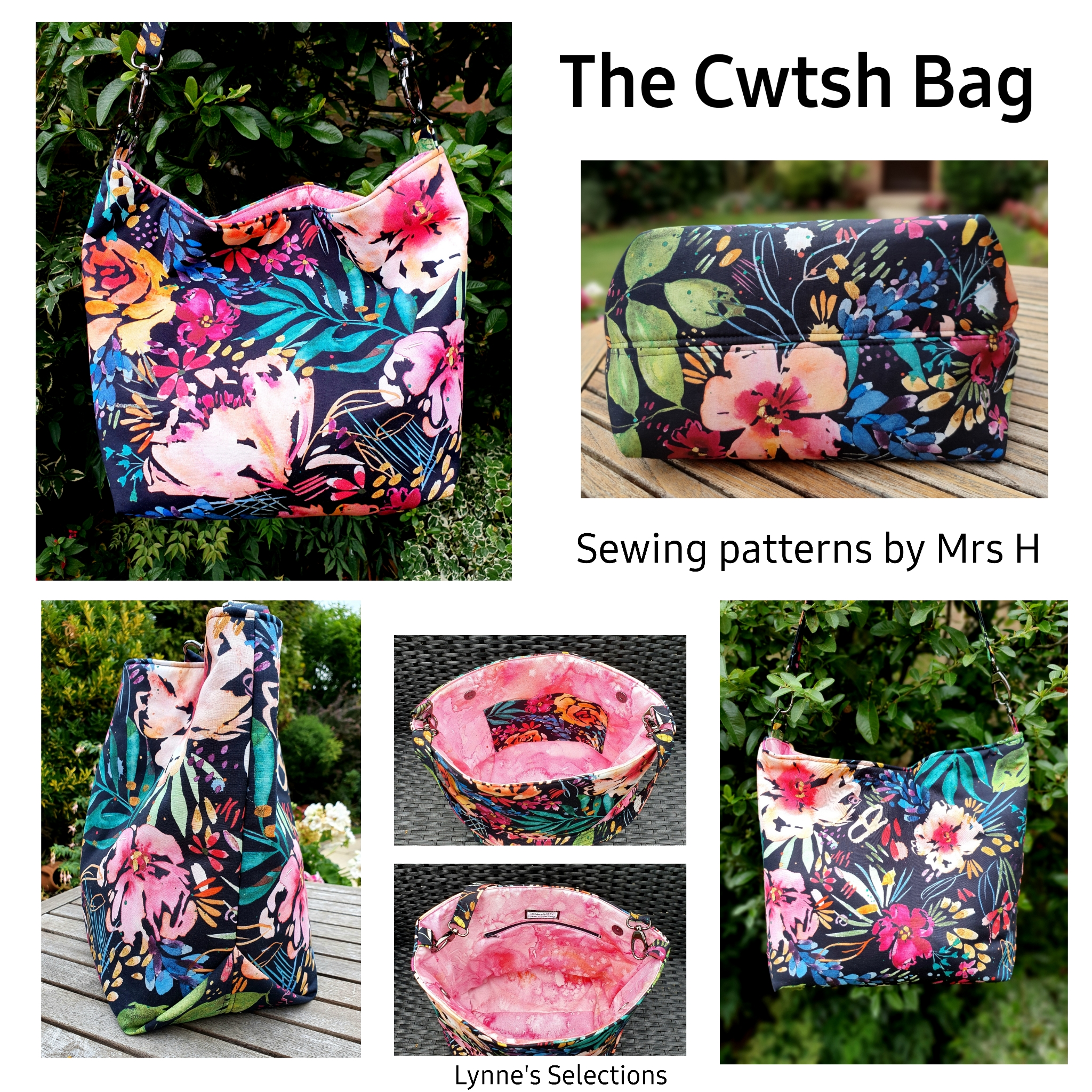 The Cwtsh Bag from Sewing Patterns by Mrs H, made by Lynne Baldwin