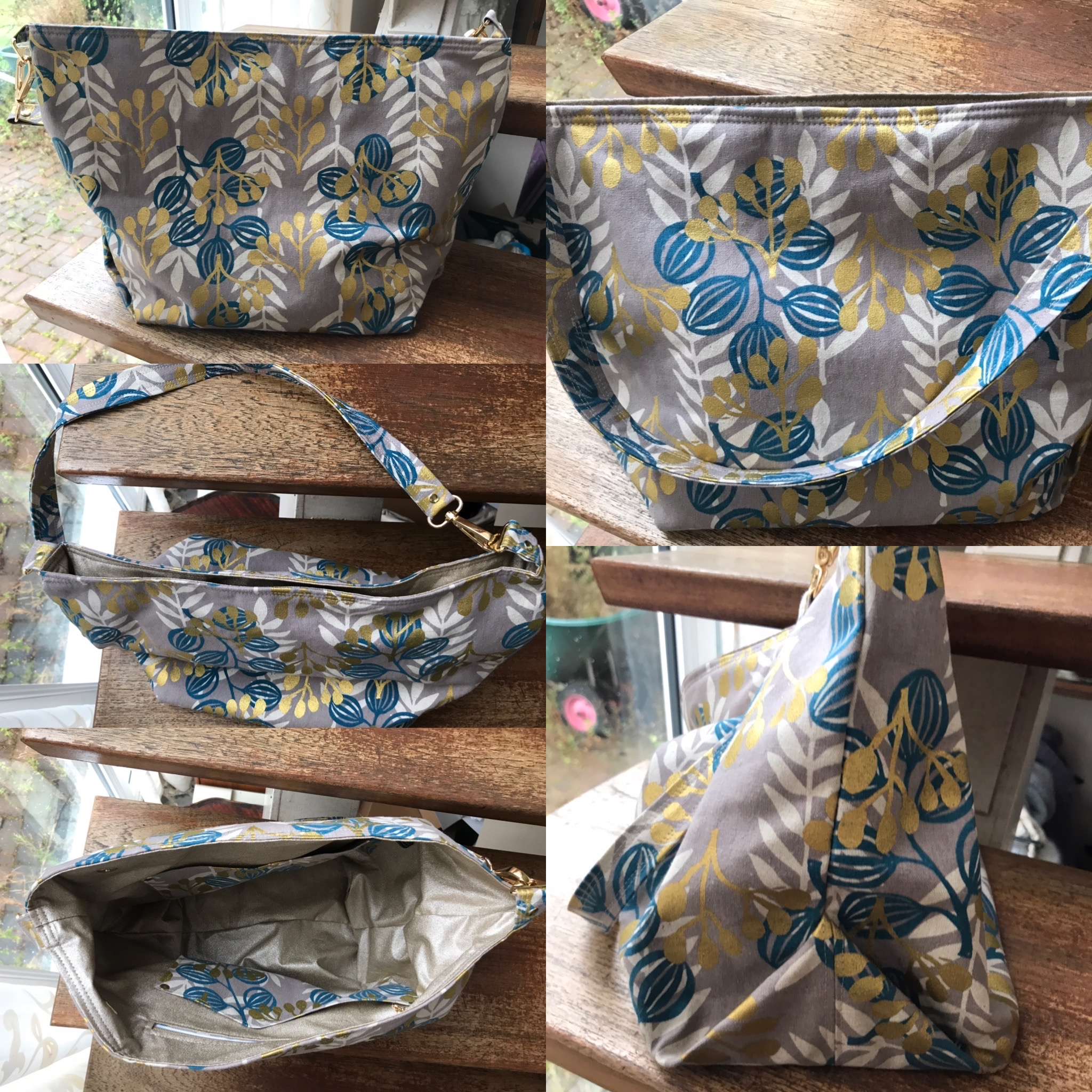 The Cwtsh Bag from Sewing Patterns by Mrs H, made by Rebecca Sumnall