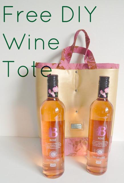 Free DIY Wine Tote