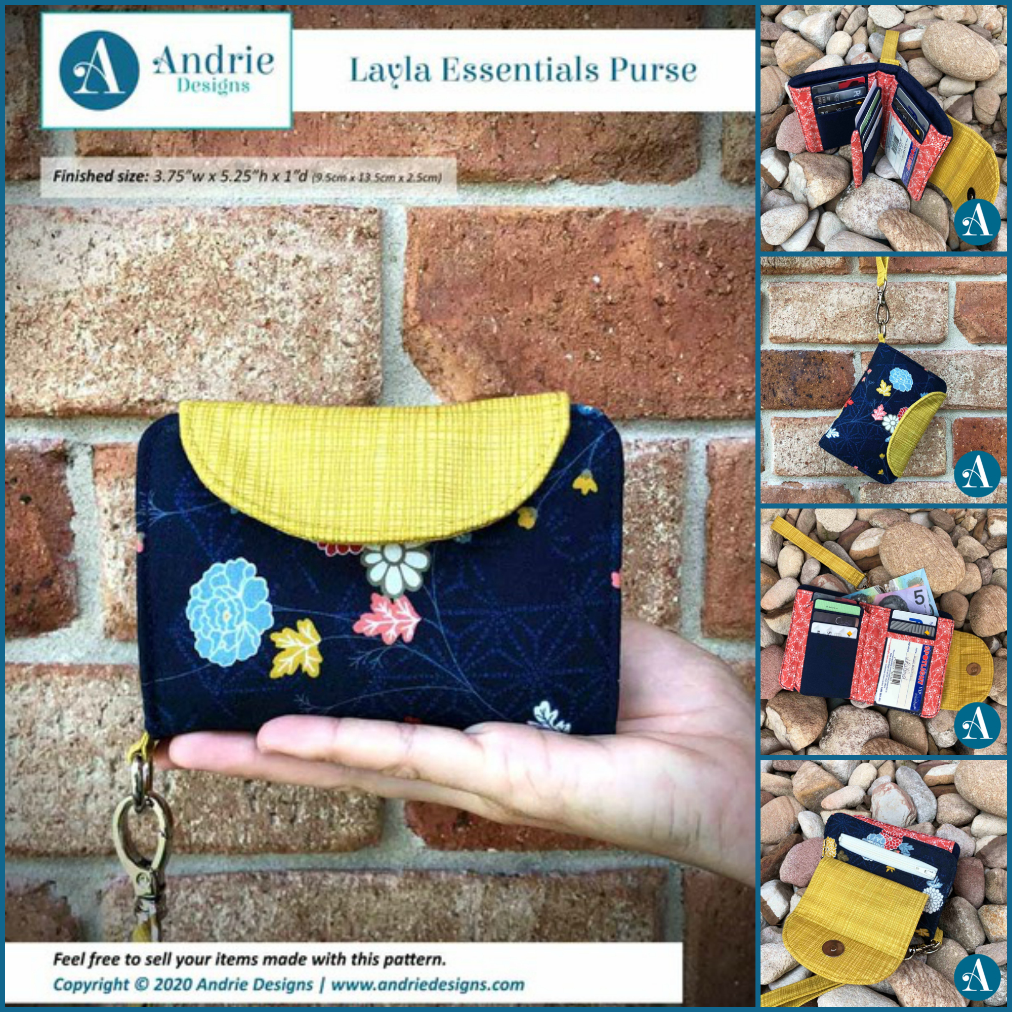 The Layla Essentials Purse by Andrie Designs