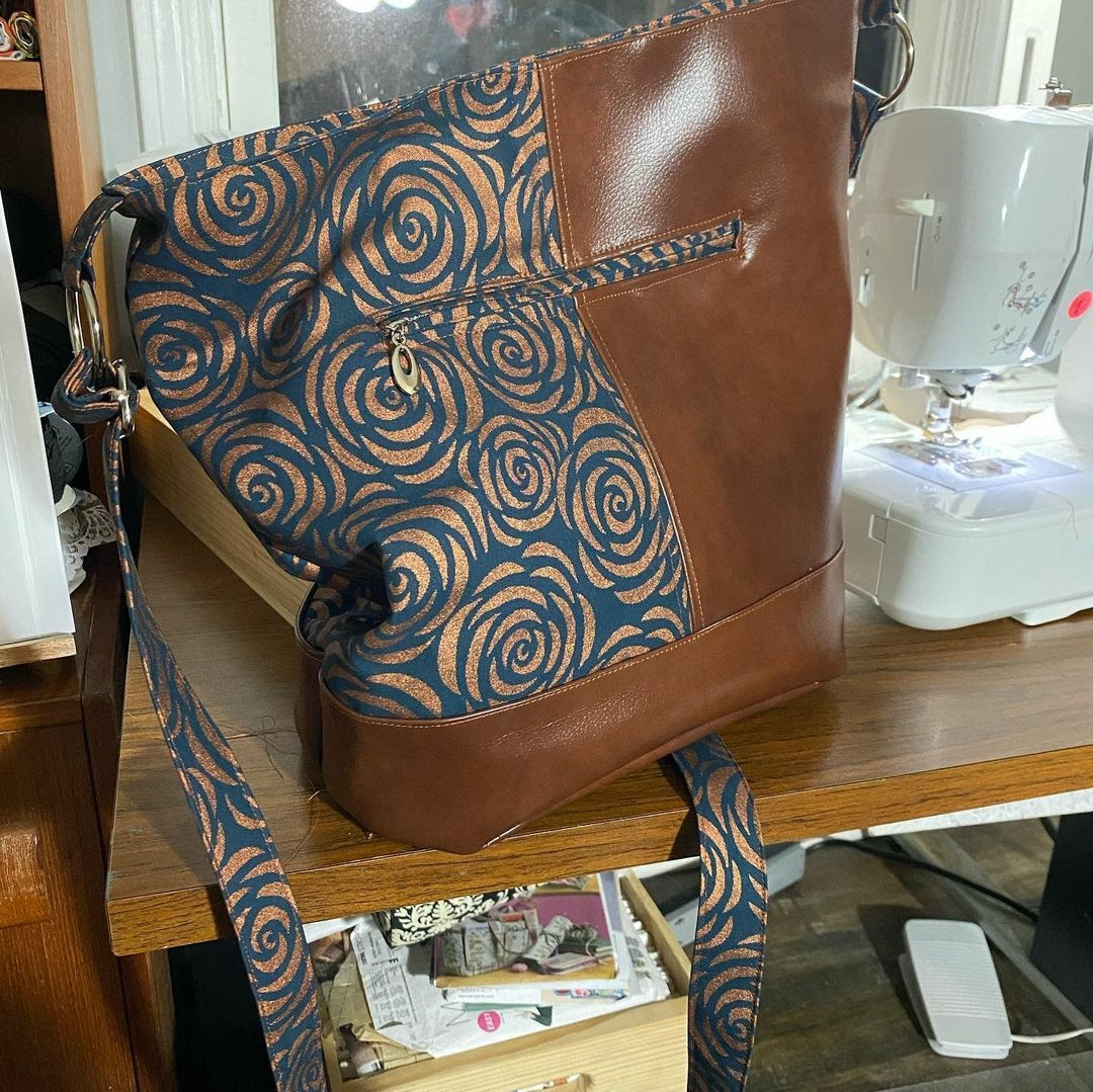 One of Stacey's beautiful Bonnie Bucket Bags!