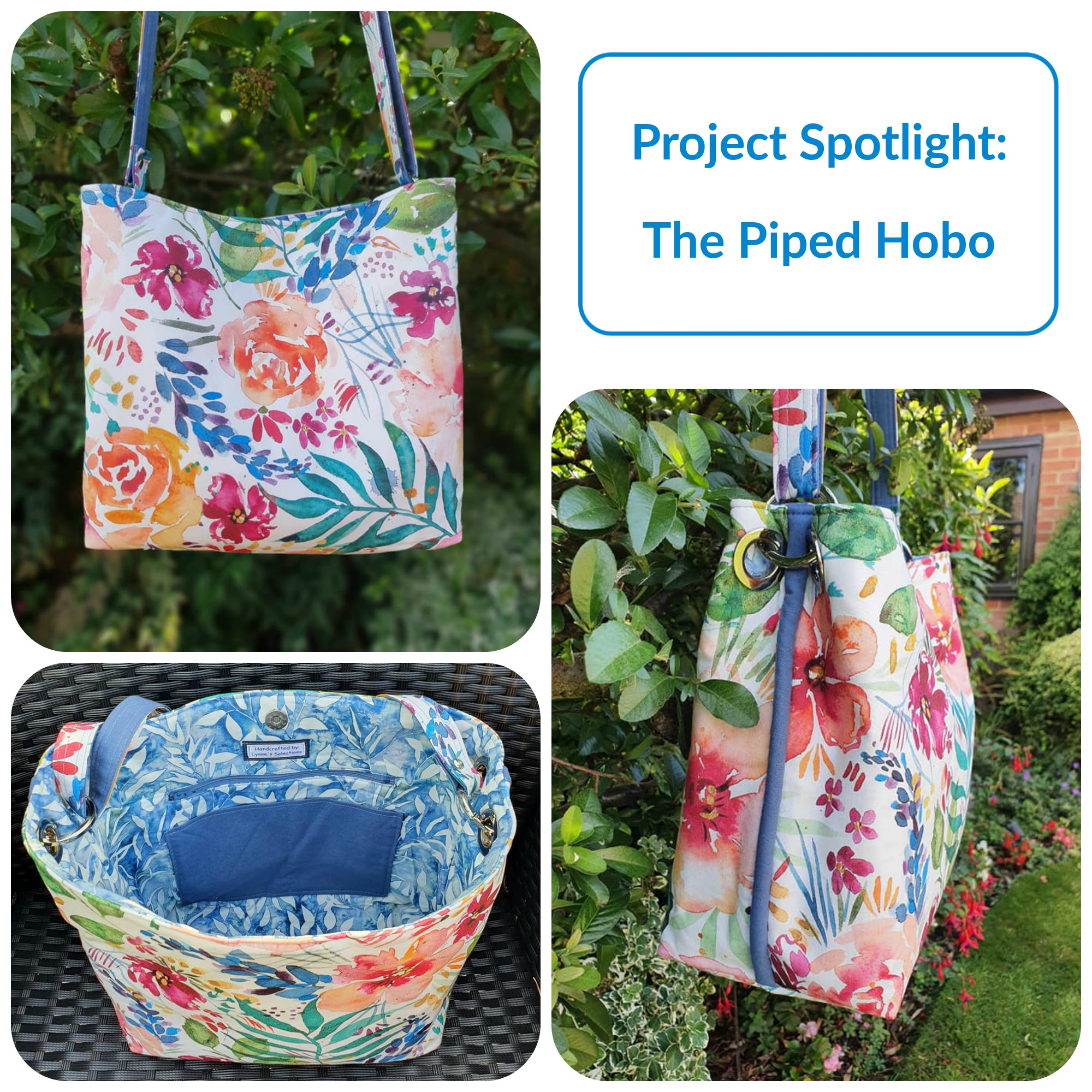 The Piped Hobo from The Complete Bag Making Masterclass by Samantha Hussey