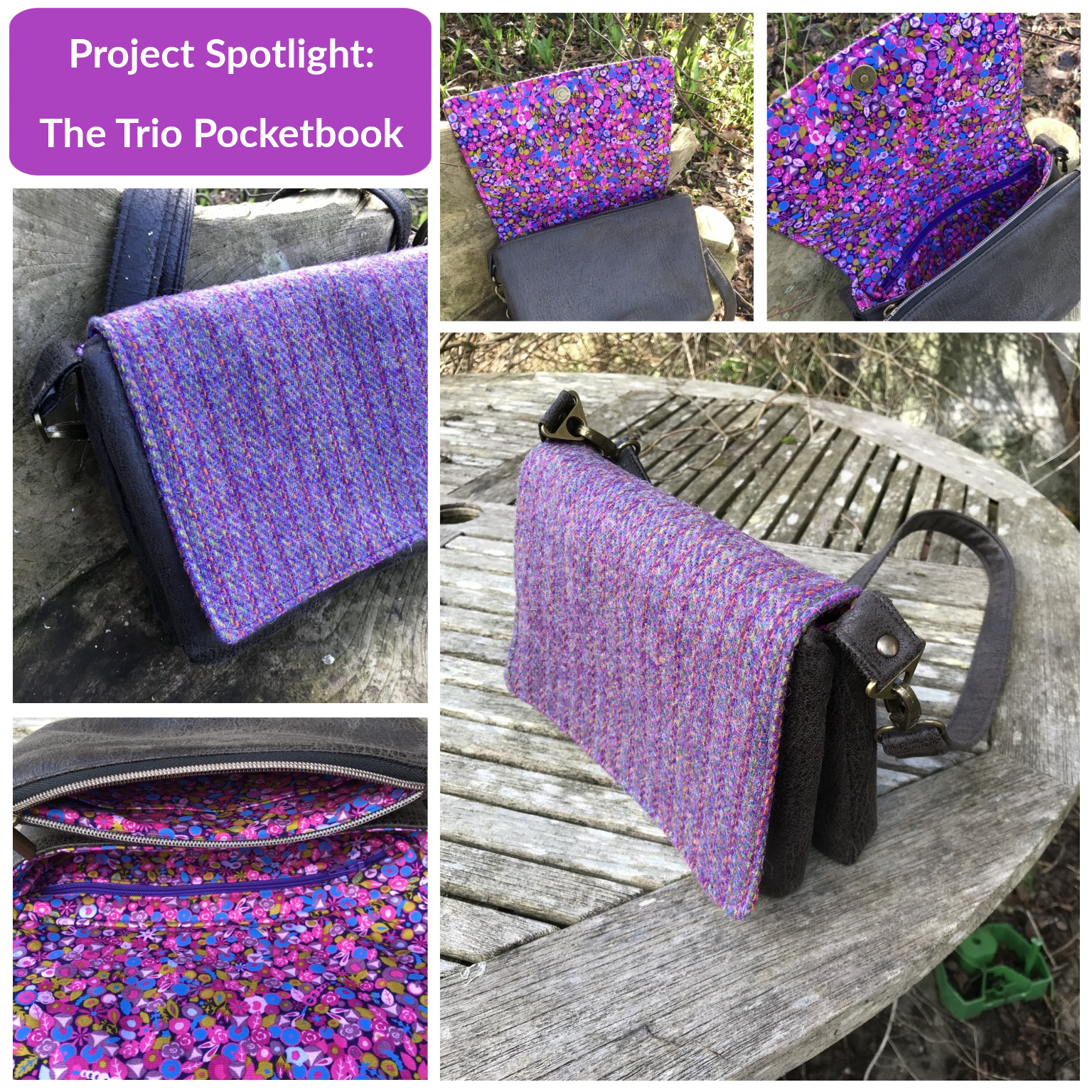 The Trio Pocketbook from The Complete Bag Making Masterclass