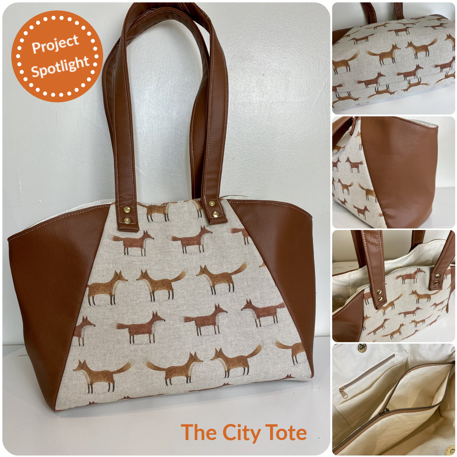 The City Tote from The Complete Bag Making Masterclass, made by Laura Simons