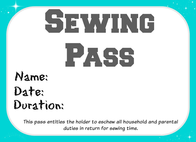 Sewing Pass - time to sew