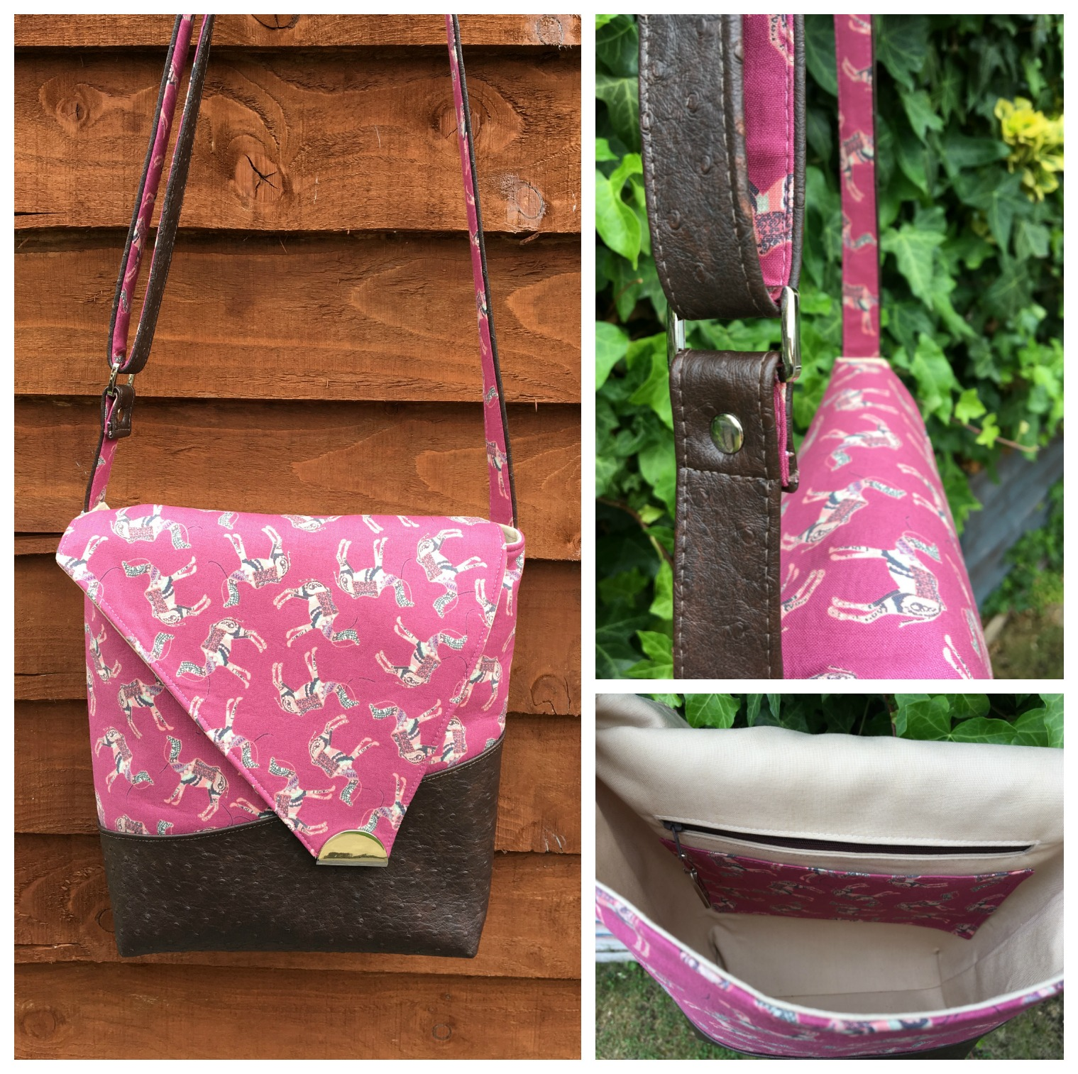 The Squiffy Sling Bag made by Sew Evey