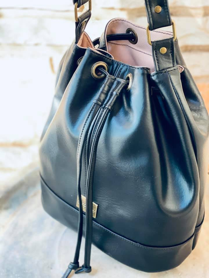 Bonnie Bucket Bag made by Monica Bernstine from Castine Handcrafted