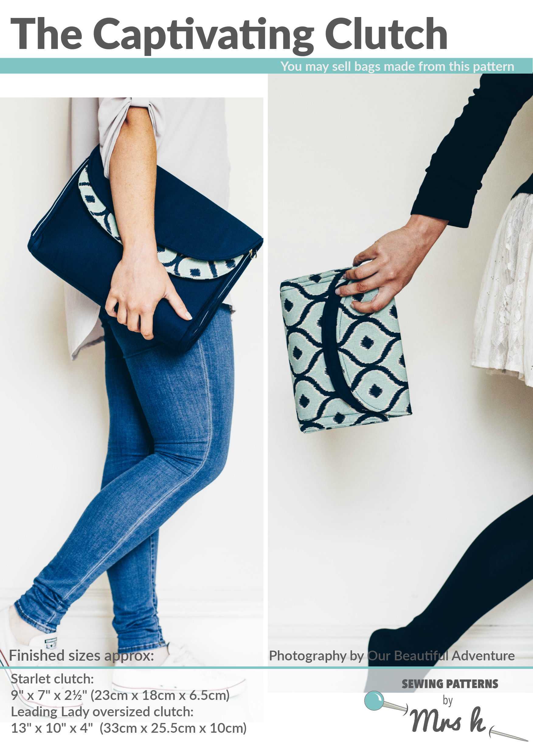 The Captivating Clutch by Sewing Patterns by Mrs H