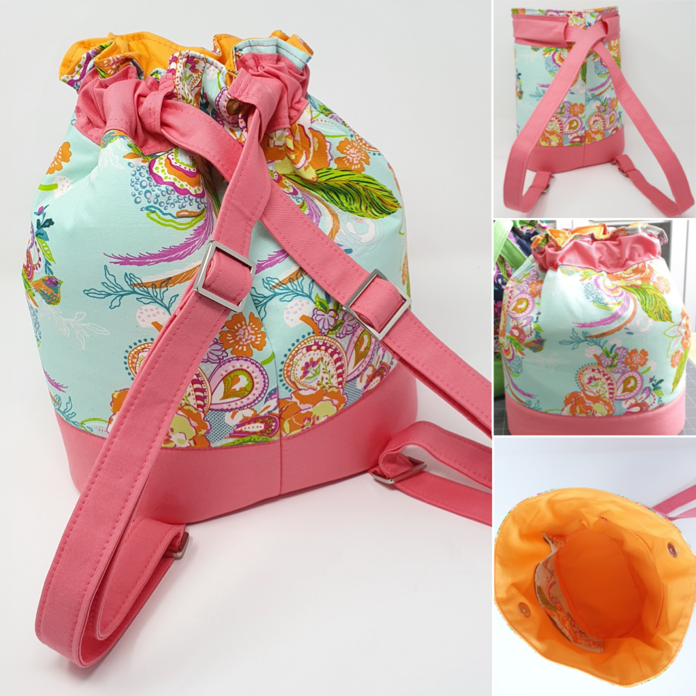 The Duffel Backpack from Sewing Patterns by Mrs H